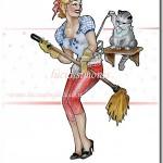 casalinga e il gatto