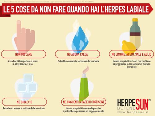 protezione solare herpes labiale