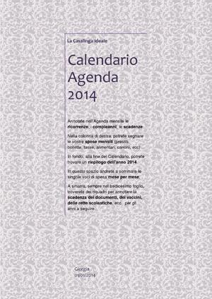 calendario agenda 2014