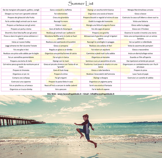 Summer List - La Casalinga Ideale